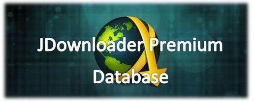 jDownloader Premium Account Database 28/07/2016