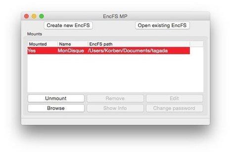 EncFSMP : Créez vos conteneurs chiffrés EncFS sous Windows et OSX | INFORMATIQUE 2015 | Scoop.it