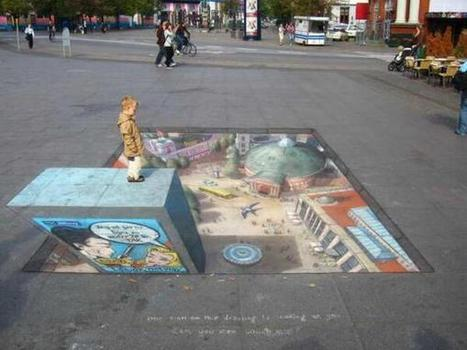 Trompe l'oeil Street Art 3D | Street Art Planet | Scoop.it