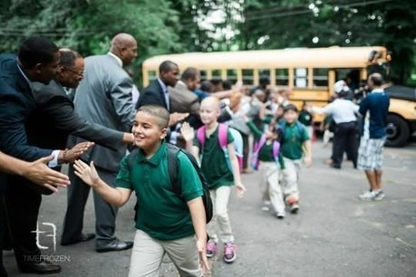 Group Of 100 Black Male Professionals Greet Students On First Day, Help Bust Stereotypes | Kimberly Yam | HuffPost.com | immersive media | Scoop.it
