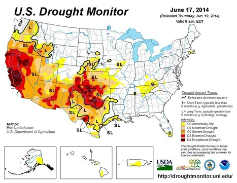 America's recent drought history, animated | Geography Education | Scoop.it