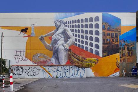 """Gaia """"il piccone demolitore e risanatore"""" New Mural - Rome, Italy   Culture and Fun - Art   Scoop.it"""