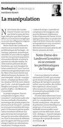 Notre Dame des Landes: l'Etat a manipulé les chiffres. Voici comment : | jocegaly | Scoop.it
