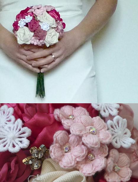 Pink & ivory posy bouquet   Handmade Wedding Flowers   Scoop.it
