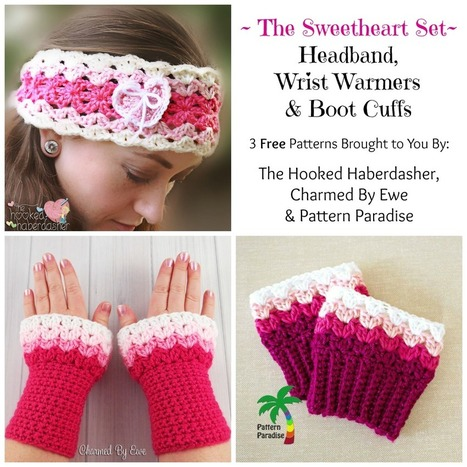FREE Crochet Pattern - Sweetheart Boot Cuffs - Pattern Paradise | Free Crochet Patterns | Scoop.it