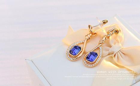 Noble Amethyst Diamond Crystal Earrings - DearyBox | Jewellery On-line Boutique Shop | DearyBox.co.uk | Women's Earrings | Scoop.it