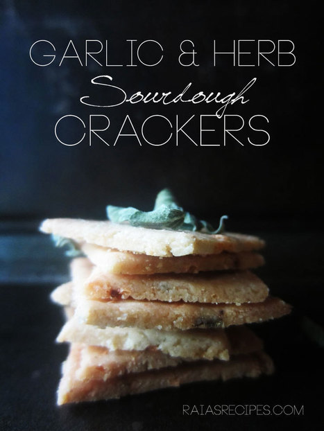 Garlic & Herb Sourdough Crackers | Health and Wellness | Scoop.it