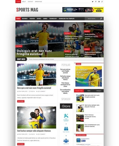 15+ Free Fresh Sports Blogger Templates Download | Webtechelp | Scoop.it