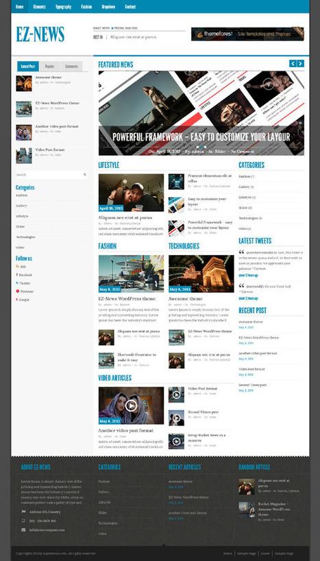 Ez News, WordPress Big Bold Responsive Magazine Theme | WP Download | 20 Best Wordpress Themes free or paid | Scoop.it
