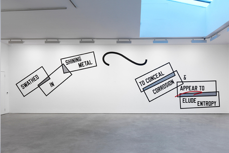 New works by seminal American artist Lawrence Weiner on view at Lisson Gallery | Art contemporain et culture | Scoop.it