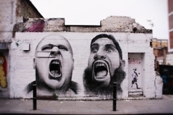 """Screaming"" Brick Lane, London, UK. 19.05.12 