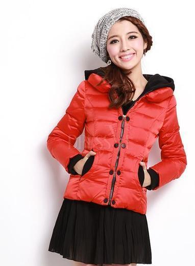 Red New Arrival Short Long Sleeve Thicken Giubbino Jackets   fashion   Scoop.it