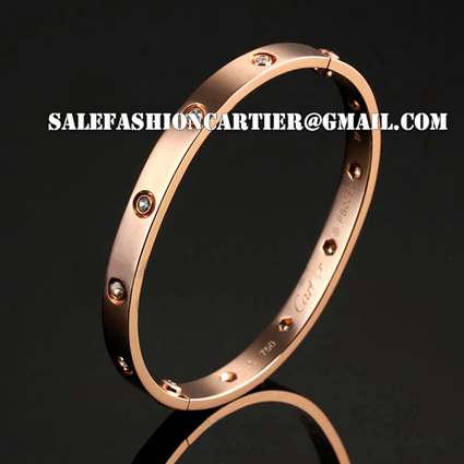 1:1 Grade Cartier Collection Rose Gold Plated Bracelet with CZ Fake Jewelry for sale | Cartier Love Bracelet Replica at Canvasquarters.com | Scoop.it