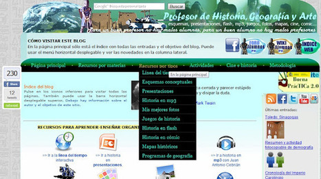 El uso del blog en la Didáctica de las Ciencias Sociales | EDUCACIÓN en Puerto TIC | Scoop.it