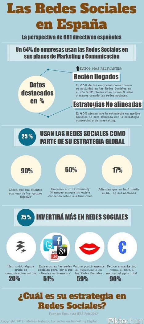Redes Sociales en España ¿Qué opinan los directivos de 681 empresas españolas? | #MarketingDigital | Scoop.it
