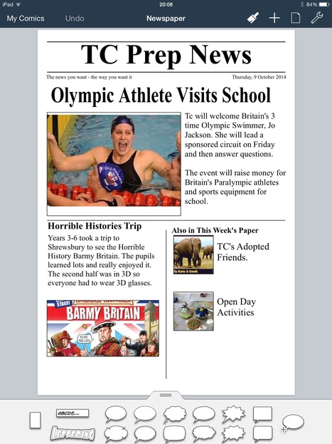 Newspaper Reports with Comic Life- October 2014 Post | iPad Teachers Blog | Scoop.it