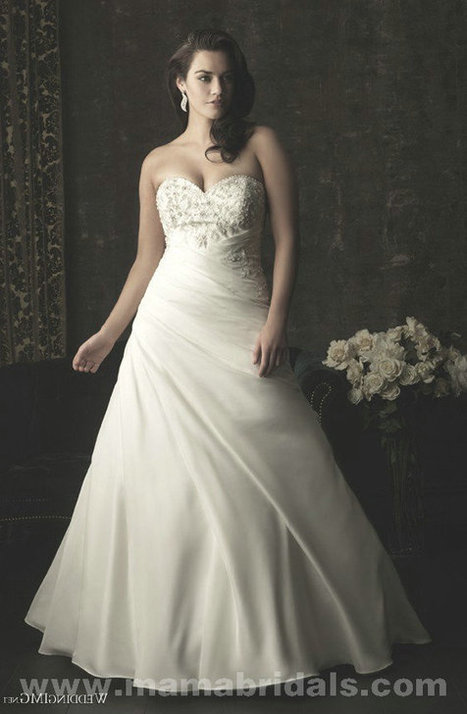 Only Price - $364.00 sleeveless Strapless floor length Allure Bridals W303 Ivory/WHITE wedding gown For sale | Maggie-Sottero 2013 | Scoop.it