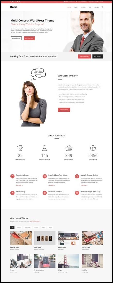 10 Best Wordpress Bootstrap Corporate Themes - Themes Pad | Bootstrap Themes | Scoop.it