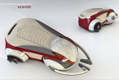 Robot Harvester Design For Gathering Rubbish from Shopping Centers | Tuvie | robotic vacuum cleaner | Scoop.it