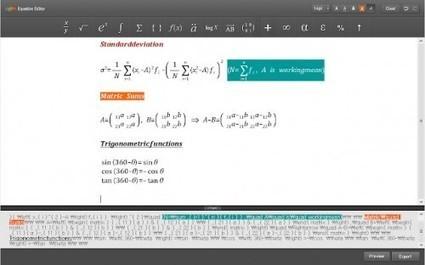 Crea y edita fórmulas o ecuaciones desde Chrome con Daum Equation Editor | MATEmatikaSI | Scoop.it