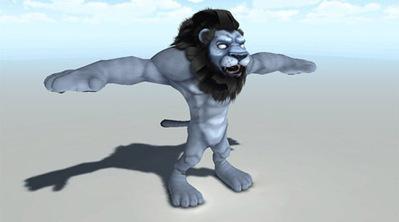 Lion humanoïde en 3D | 3D Library | Scoop.it