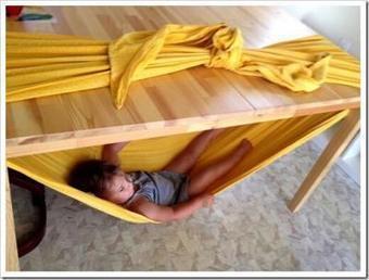 Sitefan de hamac improvisé pour bébé   Astuces maman-bébé de la puériculture   Scoop.it