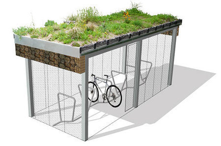 Green Roofed Cycle Shelters from Green Roof Shelters | Digital Sustainability | Scoop.it