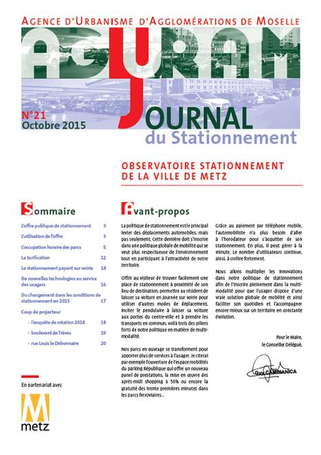 Mobilités - Journal du stationnement n°21 | Actualité du centre de documentation de l'AGURAM | Scoop.it