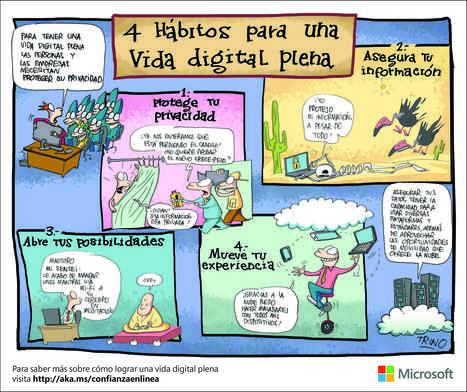 Los hábitos para una vida digital plena vistos desde la perspectiva de dos caricaturistas | Educacion, ecologia y TIC | Scoop.it