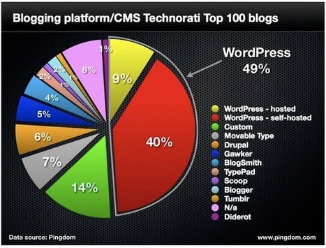 WordPress domina el top 100 de blogs y sigue creciendo | Herramientas digitales | Scoop.it