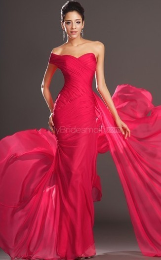 Red Chiffon Trumpet/Mermaid One Shoulder Floor-length Bridesmaid Dresses(NZBD06-BD516) - MyBridesmaid.co.nz | Prom & Formal | Scoop.it