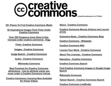 Un gran almacén de recursos Creative Commons | Código Tic | Scoop.it