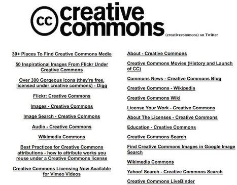 Un gran almacén de recursos Creative Commons | Conocimiento libre y abierto- Humano Digital | Scoop.it