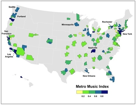 The Geography of America's Music Scenes | Maps are Arguments | Scoop.it
