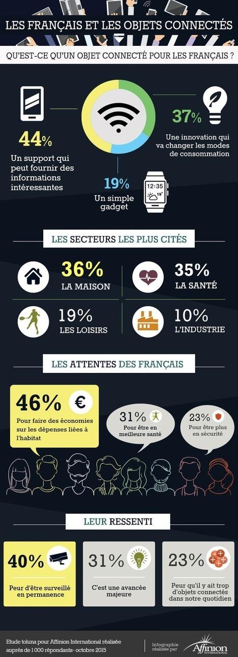 Les français et les objets connectés [infographie]   Info Magazine   Scoop.it