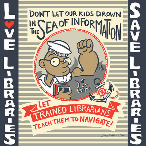 save libraries: free posters to print! | 21st Century School Libraries | Scoop.it
