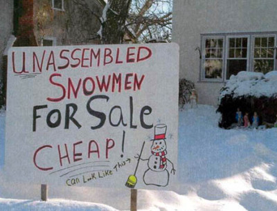 Unassembled Snowmen for Sale | Kitsch | Scoop.it