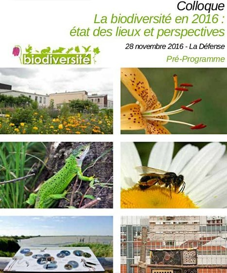 agenda | La biodiversité en 2016 : état des lieux et perspectives d'avenir  | Future, Past, Anthropology,Arts,Social Science,Research | Scoop.it