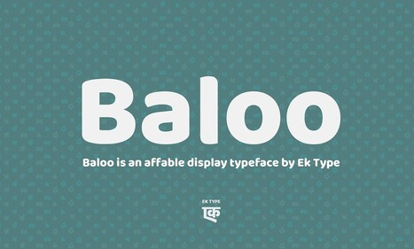 Free Font | Baloo Indian Font Family | Design Freebies & Deals | Scoop.it