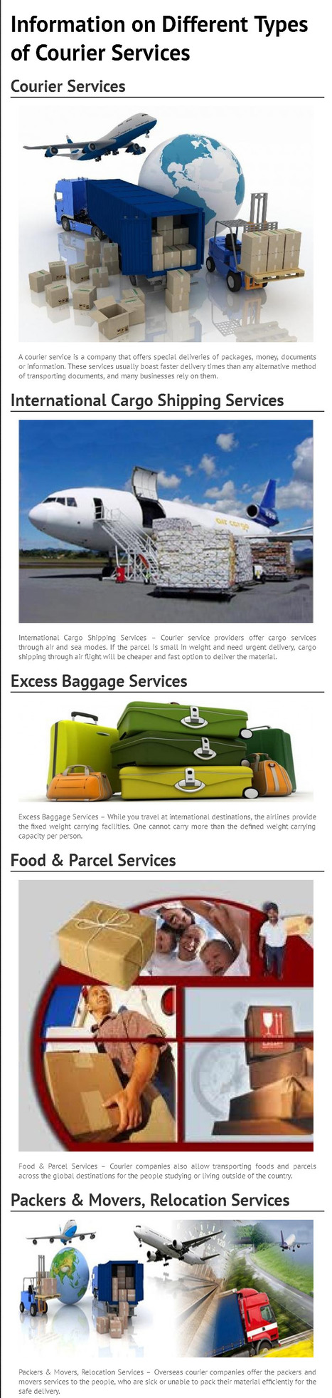 Information on Different Types of Courier Services [INFOGRAPH]   fastwayindia   Scoop.it
