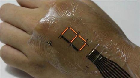 Une peau électronique pour remplacer nos écrans | Innovation et technologie | Scoop.it