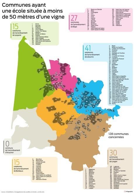 Pesticides : la carte des lieux sensibles en Gironde | Vie et patrimoine à St Martin-du-Bois (33) | Scoop.it