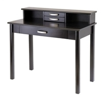 Espresso Desk and Hutch, 2 pc Office Set- Winsome Wood   Comercial Organizing   Scoop.it