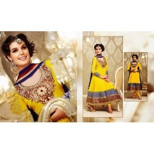 Fia Yellow Anarkali Churidar Kameez with Dupatta-8165 | Buy online Shopping in India Apparel, Watches, Sunglasses | Scoop.it