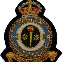Squadron Badge 220 Royal Air Force Embroidered Patch | Blazer Badges | Scoop.it