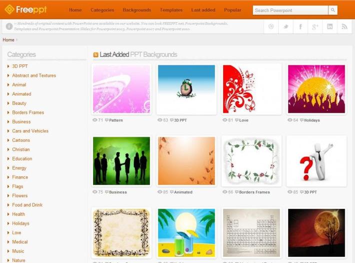 Gratis voor PowerPoint: honderden achtergronden, sjablonen en 'slides' | Edu-Curator | Scoop.it