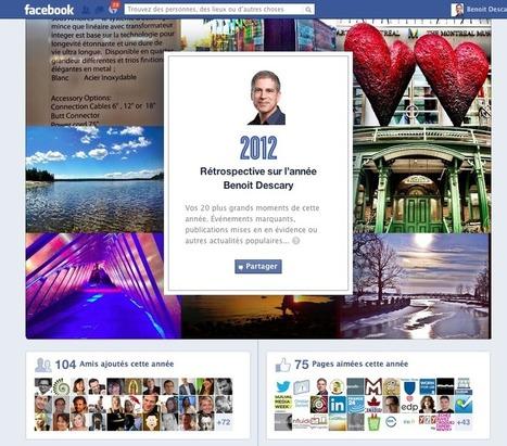Facebook: créez votre propre rétrospective de l'année 2012 | Social Network & Digital Marketing | Scoop.it