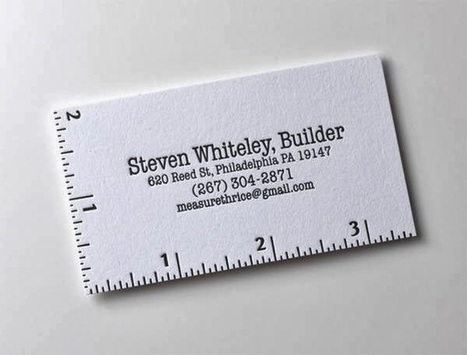 20 Business Card Designs with creative use of fonts ~ Web Designer Pad | Web Design | Scoop.it