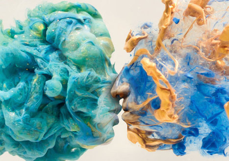 "Surreal Double Exposures of Faces Blended Into Plumes of Ink in Water | CF Art Dept ""stuff"" 
