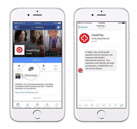 Facebook Messenger Adds Instant, Free Answers from Doctors Via HealthTap | mHealth- Advances, Knowledge and Patient Engagement | Scoop.it